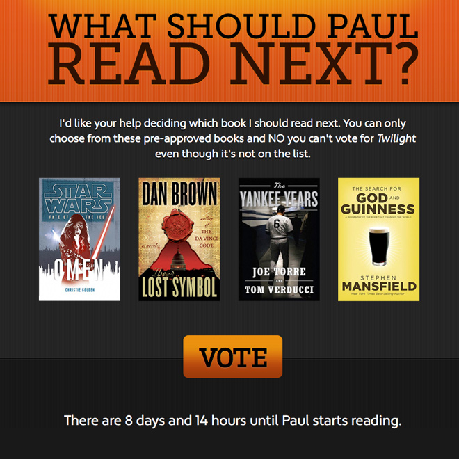 What Should Paul Read Next?